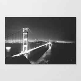 B/W San Fran Nights Canvas Print