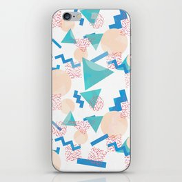 90's Pastel Geometric Pattern iPhone Skin