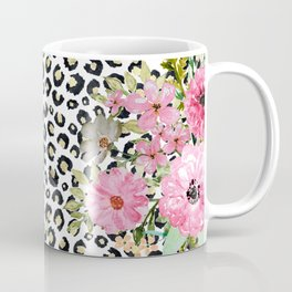 Elegant leopard print and floral design Coffee Mug
