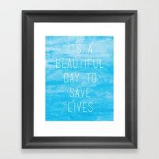 Grey's Anatomy McDreamy Quote Framed Art Print