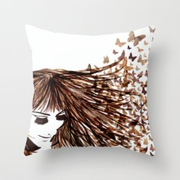 You Give Me Butterflies Throw Pillow
