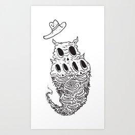 Crunchfingers ʕ•̫͡•ʔ Art Print