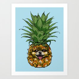 Pineapple Pomeranian Art Print