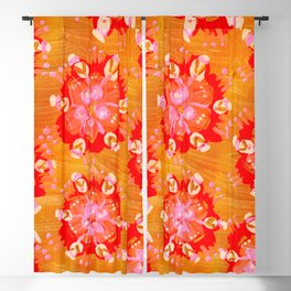 Apricot Calliope Rose Blackout Curtain