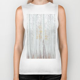 White tree forest Biker Tank