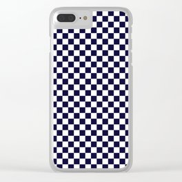 Checker Pattern Seamless Wallpaper Backdrop Clear iPhone Case