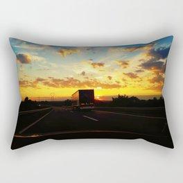 behind a truck Rectangular Pillow