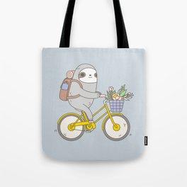 Biking Sloth Tote Bag