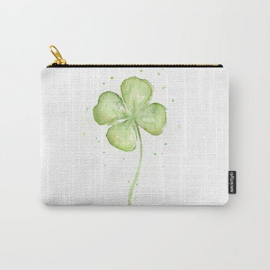 Clover Four Leaf Lucky Charm Green Clovers Carry-All Pouch