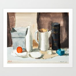 Black, White and Brown All Over Art Print