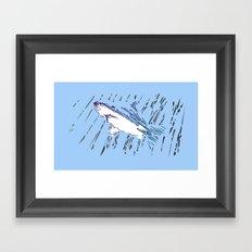 Rain Swimmer Framed Art Print