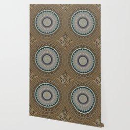 Vintage Paper Mandala Wallpaper