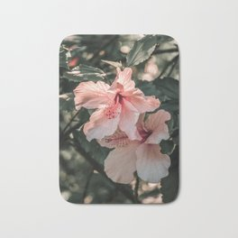 Hibiscus Flowers Bath Mat