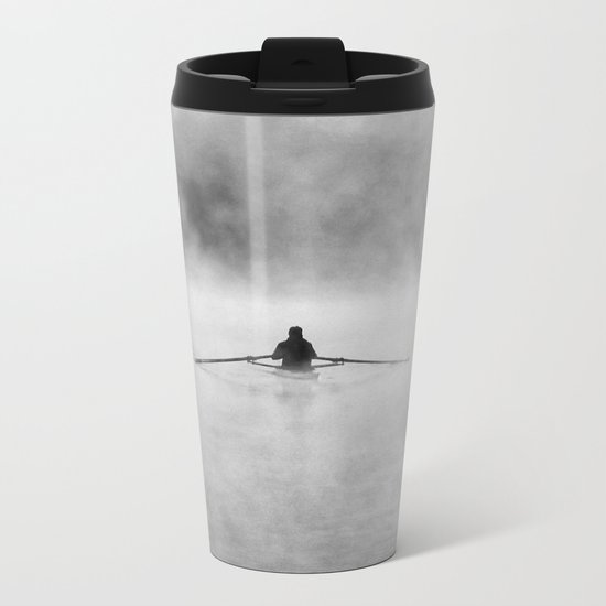 Rowing On The Chattahoochee Metal Travel Mug