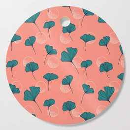 Bright Ginkgo & Dots #society6 #decor #buyart Cutting Board