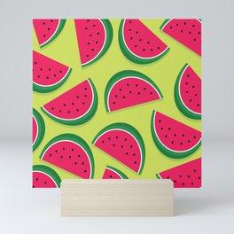 Juicy Watermelon Slices Mini Art Print