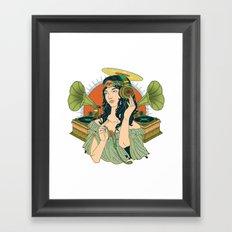 Analog Girl: ANALOG zine entry Framed Art Print
