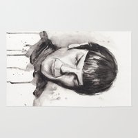 spock Area & Throw Rugs featuring Spock Star Trek by Olechka
