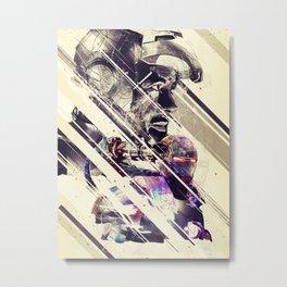 Iron Man & Warhammer // Part I Metal Print