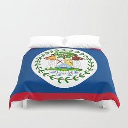 flag of belize-Belice, Belizean,Belize City,beliceno,Belmopan Duvet Cover