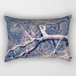 dead forest fallen trees x Rectangular Pillow
