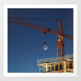 Lifting the Moon Art Print