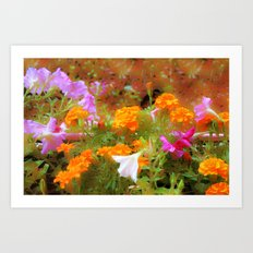 Every little garden seems to whisper a tune Art Print
