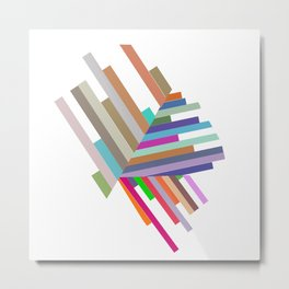 lines with triangles Metal Print
