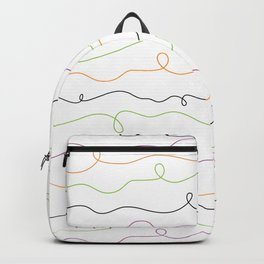 Bright Squiggle Lines Backpack