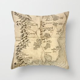 Map of Aemogen Throw Pillow