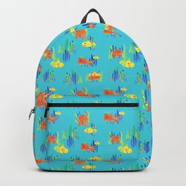 Octopus and Submarine fun Backpack