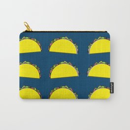 omg tacos! on navy Carry-All Pouch