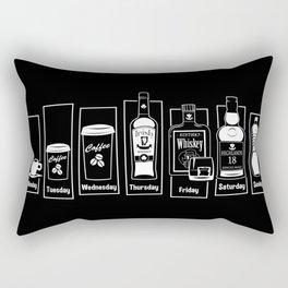 Coffee Whiskey Calendar Rectangular Pillow