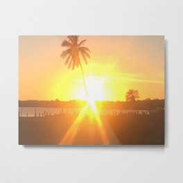 Sunset Burst Metal Print