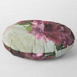carte hydrangea Floor Pillow