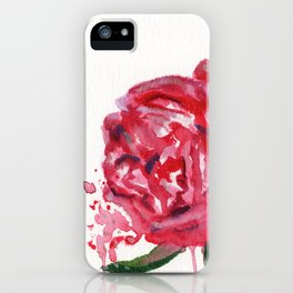 Rose and Leaves iPhone Case