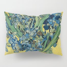 Still Life: Vase with Irises Against a Yellow Background Pillow Sham