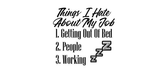 Hate People Work Job Getting Out Of Bed Funny Lazy Coffee Mug