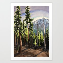 Before the Light Falls Art Print