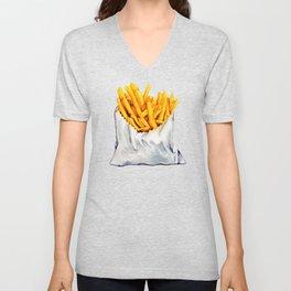 French Fries Pattern Unisex V-Neck