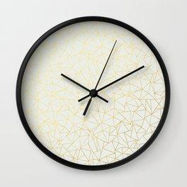 Geo Gold Wall Clock