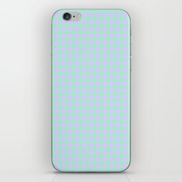 Magic Mint Green and Pale Lavender Violet Diamonds iPhone Skin