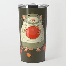 Mouse with a Christmas ball II Travel Mug