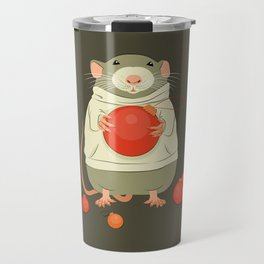 Mouse with a Christmas ball II Travel Mug