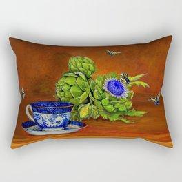 Teacup with Artichokes Rectangular Pillow