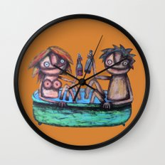In the bath Wall Clock