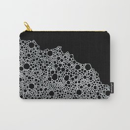 Black and White Foam Carry-All Pouch
