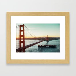 Heading into Pacific Framed Art Print