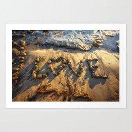 Beach Love Art Print