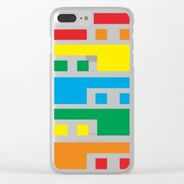 Colorful lines Clear iPhone Case